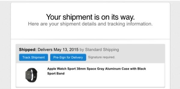 Apple Watch is on it's way!