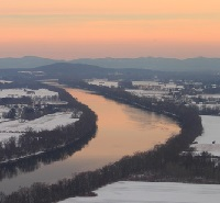 connecticut river in snow