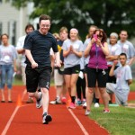 Special Olympics participants enjoy the spotlight at Northampton High School track