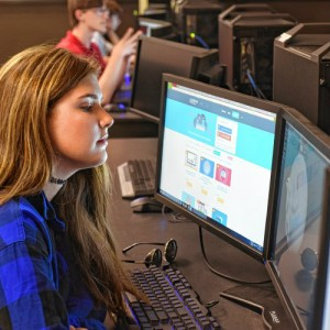 FCTS Technology students, photo by Paul Franz