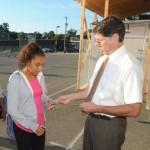 Greenfield Middle School Principal Gary Tashjian retires