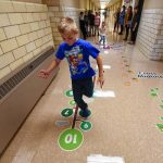 New sensory walkway at Bernardston Elementary School to encourage motor skill development
