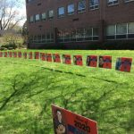 Frontier Regional School Sign Project Honors Graduating Seniors