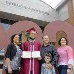 Cheers for one-by-one Easthampton High commencement