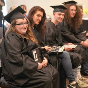 Mount Tom graduates, photo by Carol Lollis