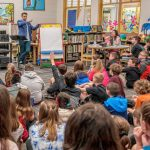 Drawing attention: Author-illustrator Jarrett Krosoczka visits Norris Elementary School